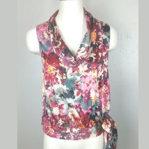 Banana Republic Sz XS Sleeveless Cowl Neck bow